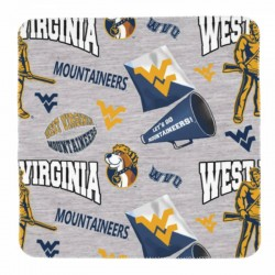 Soft West Virginia University Newborn Swaddle Blanket #885359 lightweight and stretchy quality fabric