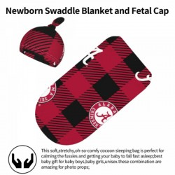 Durable Alabama Crimson Tide Newborn Swaddle Blanket #880961 soft and smooth against your baby's skin